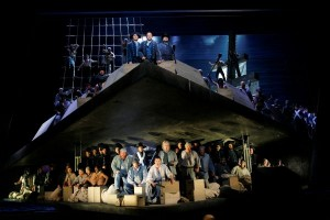 The crew of the HMS Indomitable prepare for battle in LA Opera's BILLY BUDD.