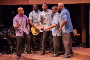 Cecil Jones, Brian Nelson, Lawrence Williams and David L. Simmons as The Impressions in CHICAGO'S GOLDEN SOUL (A 60'S REVUE) at Black Ensemble Theater.