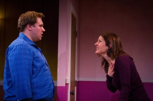 "Travis Moscinski and Alina Phelan in Steve Yockey's ""Disassembly"" at Theatre of NOTE in Hollywood."
