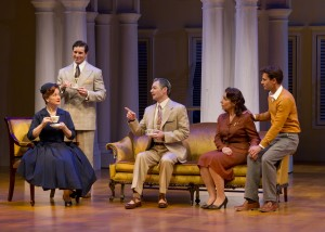 Patti Cohenour, Christopher Newell, Perry Ojeda, Mary Gutzi and David Burnham in South Coast Repertory's 2014 production of The Light in the Piazza, book by Criag Lucas and music and lyrics by Adam Guettel.
