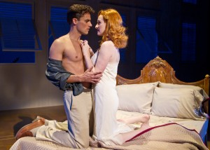 David Burnham and Erin Mackey in South Coast Repertory's 2014 production of The Light in the Piazza, book by Craig Lucas, music and lyrics by Adam Guettel.