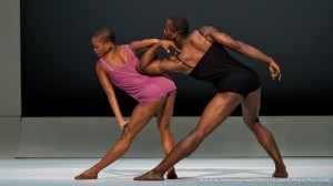 Akua Noni Parker and Jamar Roberts in Alvin Ailey's CHROMA. Photo by Paul Kolnick.