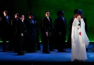 Albina Shagimuratova as Lucia (with ensemble) in LA Opera's LUCIA DI LAMMERMOOR.
