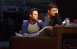 Bobby Steggert and Frederick Weller in a scene from Terrence McNally's MOTHERS AND SONS on Broadway.