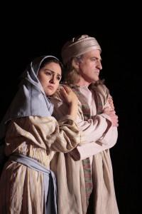 Cassandra Zoe Velasco and Matthew O'Neill in LA Opera's JONAH AND THE WHALE.