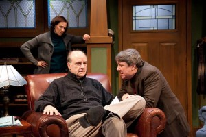 Cheryl Graeff, Mick Weber and Terry Hamilton in American Blues Theater's production of AMERICAN MYTH.