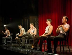 Chris Dwan, Matt Bailey, Shayne Kennon, Douglas Williams and Will Taylor in Barry Manilow's HARMONY at the Ahmanson Theatre, Los Angeles.