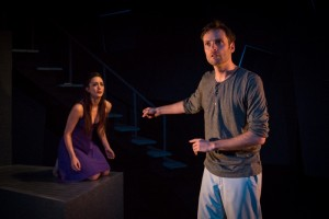 Christina Lind and Richard Saudek in OYL Theater Company's production of STOCKHOLM.
