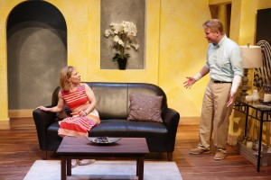 L-R: Michelle Hand and Steve Isom in DAY OF THE DOG, written by Daniel Damiano, and directed by Milton Zoth, at 59E59 Theaters. Photo by Carol Rosegg,