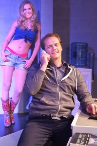 Erin Elizabeth Patrick and John-Paul Lavoisier in TALHOTBLOND at Ruskin Theatre