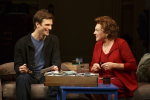 Frederick Weller and Tyne Daly in a scene from Terrence McNally's MOTHERS AND SONS on Broadway.