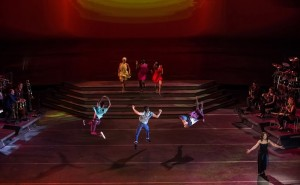 "Scene from ""Heartbeat of Home,"" a music and dance spectacular from the producers of ""Riverdance."" Produced by Moya Doherty, directed by John McColgan, choreography by David Bolger and Irish Dance Choreography by John Carey. The world-class cast of thirty-nine includes music by Brian Byrne."