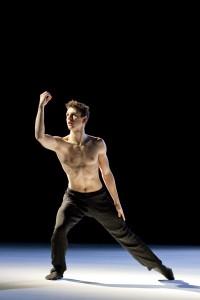 """Hubbard Street Dancer Kevin J. Shannon in 27′52"""" by Jiří Kylián."""