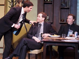 Jake Silbermann, Malcolm Madera and Robert M. Foster in DERBY DAY at the Elephant Theatre.