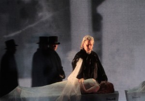 James Creswell as Raimondo with Albina Shagimuratova as Lucia in LA Opera's LUCIA DI LAMMERMOOR.