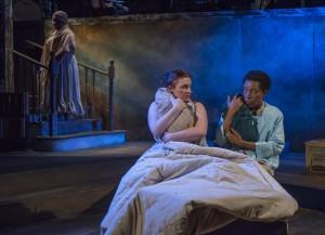 Jasondra Johnson, Harmony France and Sydney Charles in Bailiwick Chicago's production of DESSA ROSE.