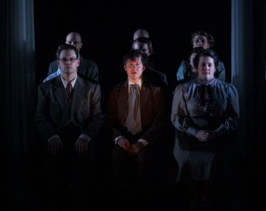 Jeff Duhigg (left), Layne Mazer (middle), Nicole Tuthill (right) in TUTA Theatre Chicago's THE JEWELS.