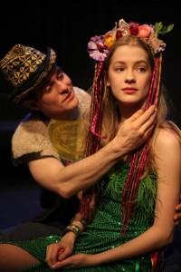 Jon-Michael Miller as FLORIZEL and Tess Frazer as PERDITA in WorkShop Theatre's THE WINTER'S TALE.