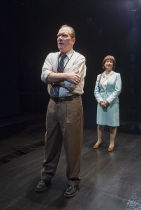 Karl Potthoff and Maggie Cain in GOOD BOYS AND TRUE at Raven Theatre in Chicago.