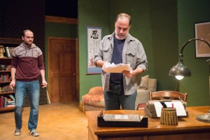 Keith Neagle (Martin) and Tom Hickey (Leonard) in Haven Theatre Company's production of SEMINAR at Theater Wit.