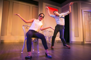 (L-R) Tawny Newsome and Mike Kosinski in The Second City's 102nd review, DEPRAVED NEW WORLD.