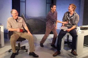Mark Rimer, Oscar Rodriguez, and John-Paul Lavoisier in TALHOTBLOND at Ruskin Theatre.