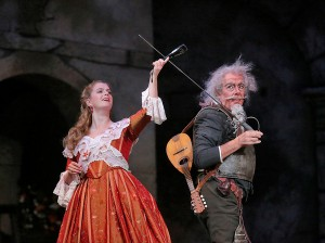 Mezzo-soprano Anke Vondung is Dulcinea and bass Ferruccio Furlanetto is Don Quixote in San Diego Opera's DON QUIXOTE