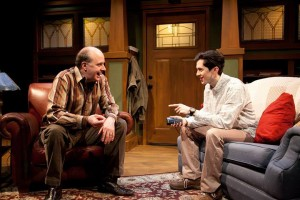 Mick Weber and Jordan Brodess in American Blues Theater's production of AMERICAN MYTH.