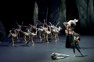 """Scene from """"LAC (After Swan Lake)"""" by Les Ballets de Monte-Carlo."""