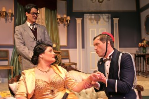 Nathan Bell, Gina D'Acciaro, Stephen Van Dorn in Actors Co-op's production of LEND ME A TENOR.