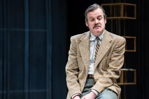 """Branford Cover in Jean-Paul Sartre's """"No Exit,"""" adapted from the French by Paul Bowles, and directed by Linda Ames Key, Off-Broadway at The Pearl Theater Company."""