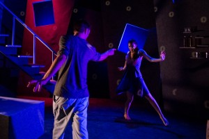 Richard Saudek & Christina Lind in OYL Theater Company's production of STOCKHOLM.