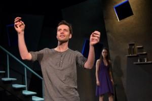 Richard Saudek, Christina Lind in OYL Theater Company's production of STOCKHOLM.