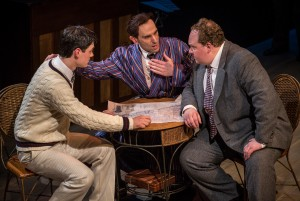 Robert Lenzi, Andrew Rothenberg and Michael Aaron Lindner in Chicago Shakespeare Theater's production of ROAD SHOW, directed by Gary Griffin.