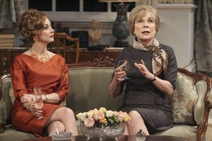 Sharon Lawrence and Roxanne Hart in Noël Coward's A SONG AT TWILIGHT at Pasadena Playhouse.