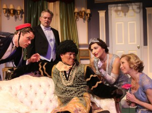 Stephen Van Dorn, Bruce Ladd, Nathan Bell, Deborah Marlowe, Tannis Hanson in Actors Co-op's production of LEND ME A TENOR.