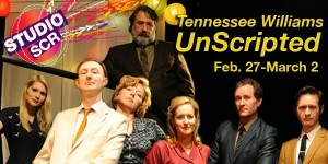 TENNESSEE WILLIAMS UNSCRIPTED - IMPRO THEATRE at South Coast Rep, POSTER
