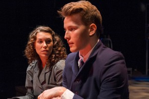 Taylor Aldrich and Dave Thomas Brown in SPRING AWAKENING at Cygnet Theatre in San Diego.