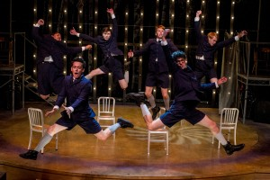Top Row (l to r) William Corkery, Dylan Mulvaney, Dave Thomas Brown, Jacob Caltrider. Bottom Row - Charles Evans, Jr., and Christopher Ruetten in SPRING AWAKENING at Cygnet Theatre in San Diego.