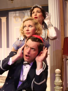 Top to Bottom - Stephen Van Dorn, Tannis Hanson, Deborah Marlowe in Actors Co-op's production of LEND ME A TENOR.