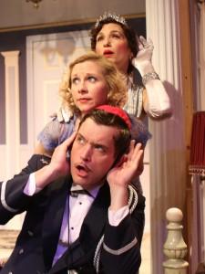 Top to Bottom - Stephen Van Dorn, Tannis Hanson, Deborah Marlowe in Actors Co-op's production of LEND ME A TENOR.