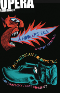AN AMERICAN SOLDIER'S TALE - A FIDDLER'S TALE at Long Beach Opera - POSTER