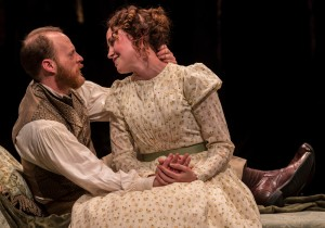 Andrew White and Rebecca Spence in Lookingglass's production of IN THE GARDEN, A DARWINIAN LOVE STORY.
