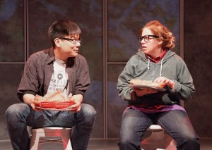 Arthur Kang and Kirsten Vangsness in EVERYTHING YOU TOUCH.
