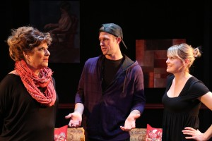 Caroline Aaron, Trey McCurley and Larisa Oleynik star in the L.A. Premiere of BE A GOOD LITTLE WIDOW by Bekah Brunstetter and directed by Sara Botsford at the NoHo Arts Center in North Hollywood.