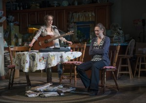Caroline Neff (Meesh) and Zoe Perry (Manda) in Steppenwolf's production of THE WAY WEST.