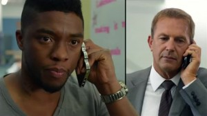 Chadwick Boseman (left) and Kevin Costner (right) in 'Draft Day' (Summit)
