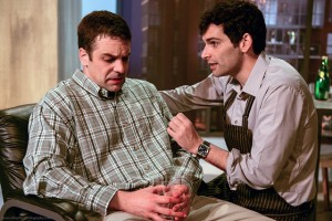 Chris L. McKenna and Donal Thoms-Cappello in TASTE at Sacred Fools Theatre. Photo by Jessica Sherman