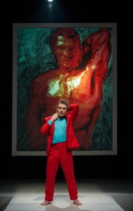 Cole Simon (portrait art by Jeff Klapperich) in DORIAN by the House Theatre of Chicago.