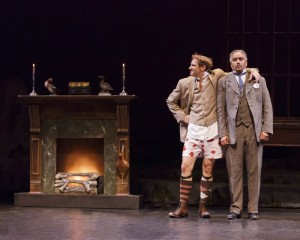 Darren Bridgett and Michael Gene Sullivan in TheatreWorks' production of THE HOUND OF THE BASKERVILLES. Photo by Mark Kitaoka.